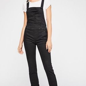 FREE PEOPLE Washed Denim Overall BLACK 27 EUC